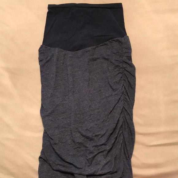 1b2fd03a0d A Pea in the Pod Dresses   Skirts - Heather Blue Maternity Pencil Skirt